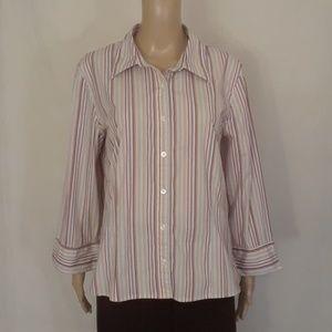 Old Navy Pink Striped Shirt - Size XXL